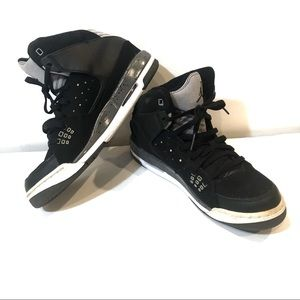 Jordan high top black sneakers grey youth 7